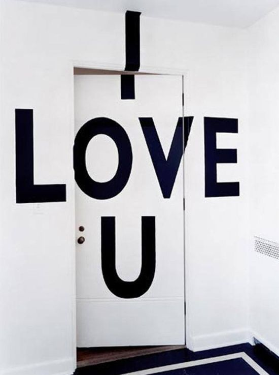 I Love You is #painted on the #door from an #interior #remodel by Seattle #architect and #designer Roy McMakin of Domestic Architecture #interior #design
