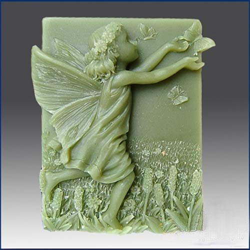 Lovely Angel Girl Design DIY Silicone Mold Handmade Soap Molds