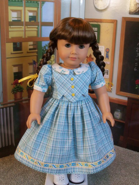 American Girl 1940s School Dress  / Clothes for American Girl Doll Kit, Ruthie or Molly. $39.00, via Etsy.