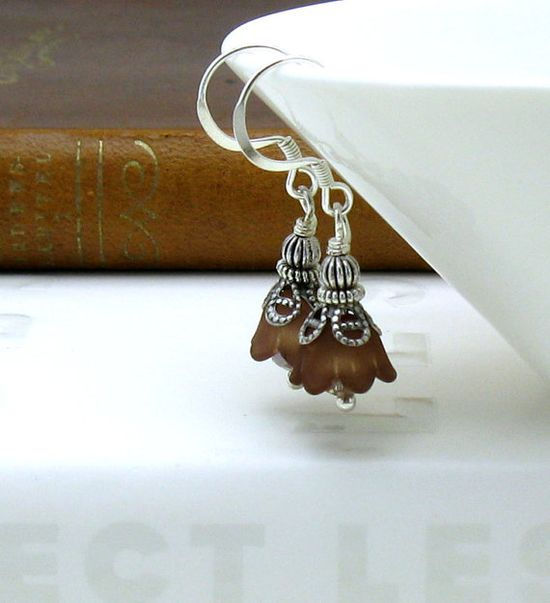 Victorian Floral Beaded Earrings / Sterling by cooljewelryJR, $21.00
