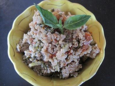 Sun-dried Tomato and Goat Cheese Quinoa