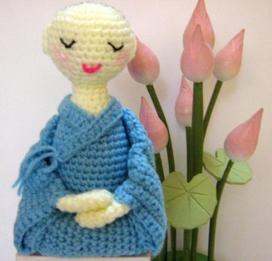 """""""Christmas in July Sale (Was USD4.00) PDF Crochet Amigurumi Pattern - A Little Nun in Meditation"""" #Amigurumi  #crochet"""