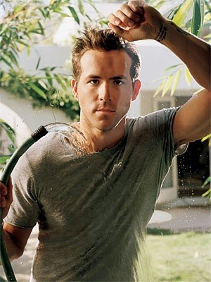 oh hey wet ryan reynolds. Need a hand drying off??
