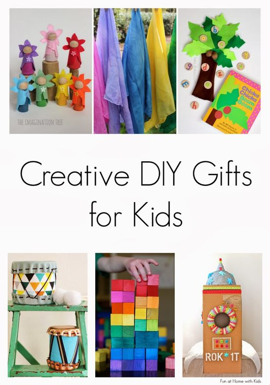 Creative DIY Gifts for Kids - Fun at Home with Kids. I want to make all of these!