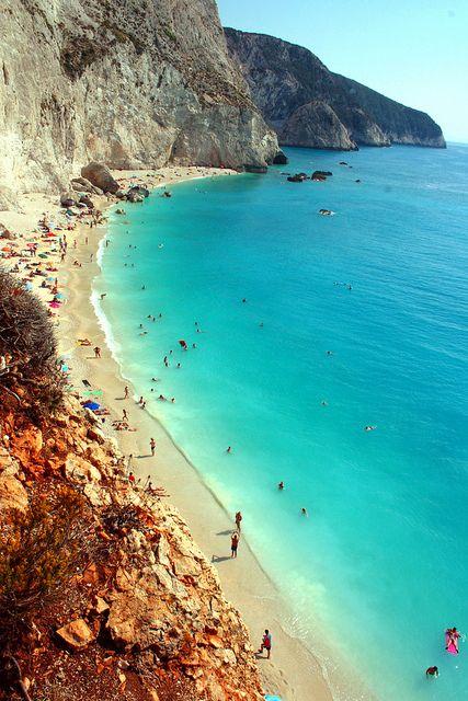 Плажът Порто Кацики в Лефкада, Гърция