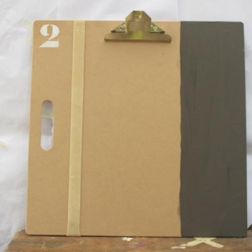 "ahhh sibella--- ""list board"" clipboard...  grey chalkboard side panel ... rubber band on the left"