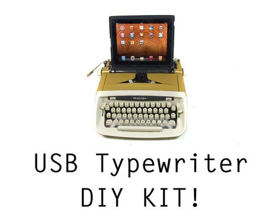 DIY USB Typewriter Conversion Kit. By usbtypewriter, Etsy.