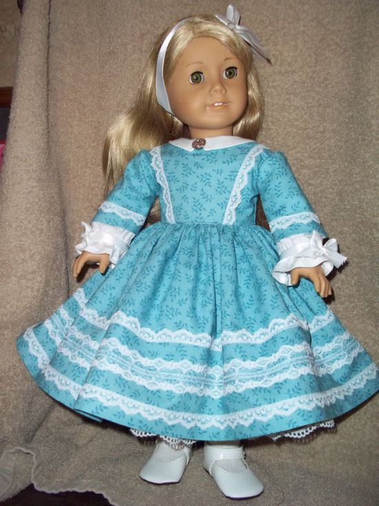 1860 style day Dress made for 18 American Girl doll by Lillianloy, $34.00