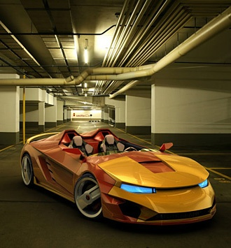 Iron Man Sports Car lol this is cool