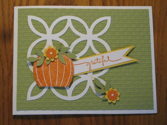 Thanksgiving Fall Pumpkin Card
