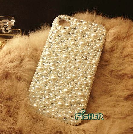 Bling White Pearl iPhone 4 case, iphone 4s case, iPhone 5 case, iPhone 4 cover, iPhone 5 skin, iphone 4s cover, phone cases