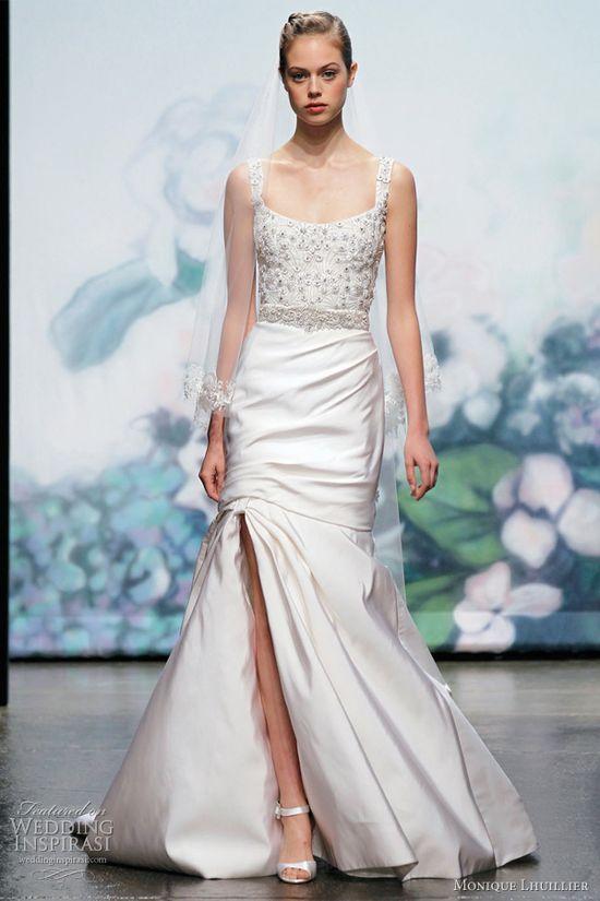 monique lhuillier fall 2012 bridal gown