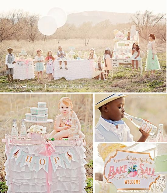 Easter themed vintage bake sale party via Kara's Party Ideas