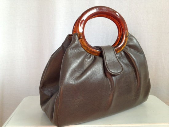 Vintage leather handbag  www.etsy.com/...