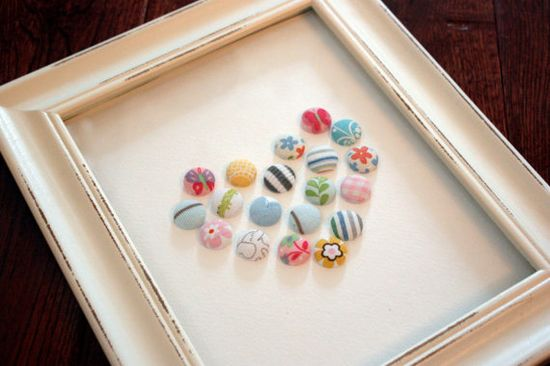 Baby Clothes Button Art