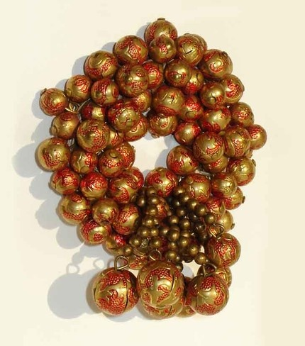 Vintage 30's Haskell Gold Red Beaded Wreath Brooch Pin by metroretrovintage, via Flickr
