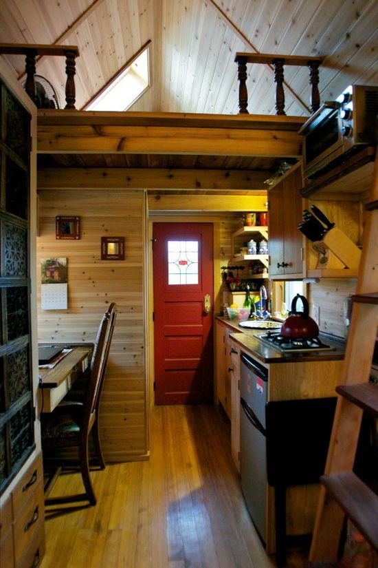 Michelle Jones' 8×14 tiny home that cost 30,000. built by Portland Alternative Dwellings.