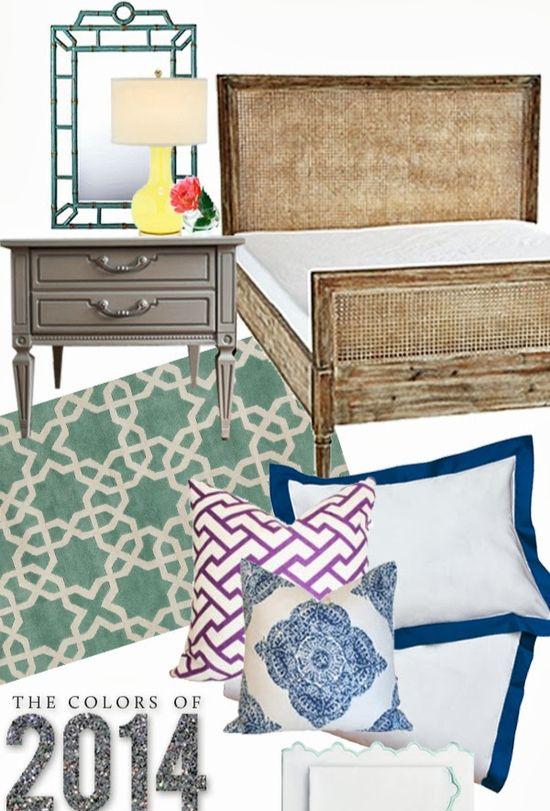 Bedroom Design inspired by Pantone's Color Picks for 2014