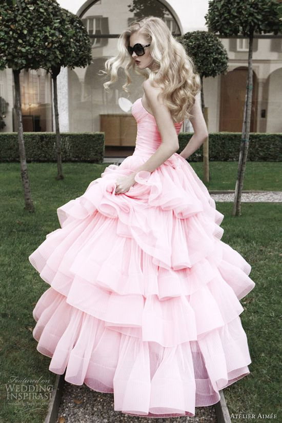 pink!!! atelier aimee 2012 pink wedding dress