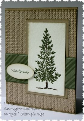 Crumb Artichoke Lovely Tree card