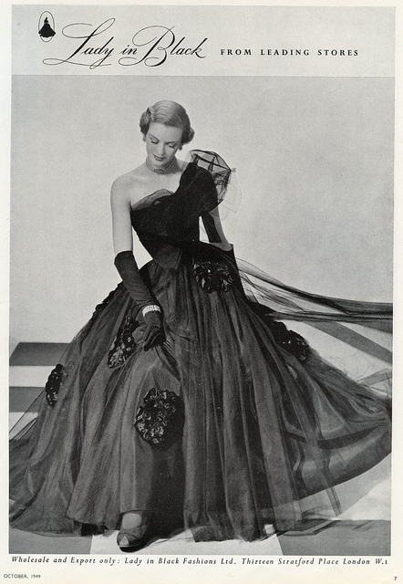 The beautifully attired lady in black. #vintage #1940s #dress #fashion