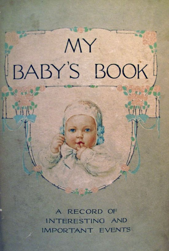 antique baby book