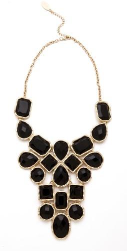 Stone Bib Necklace.
