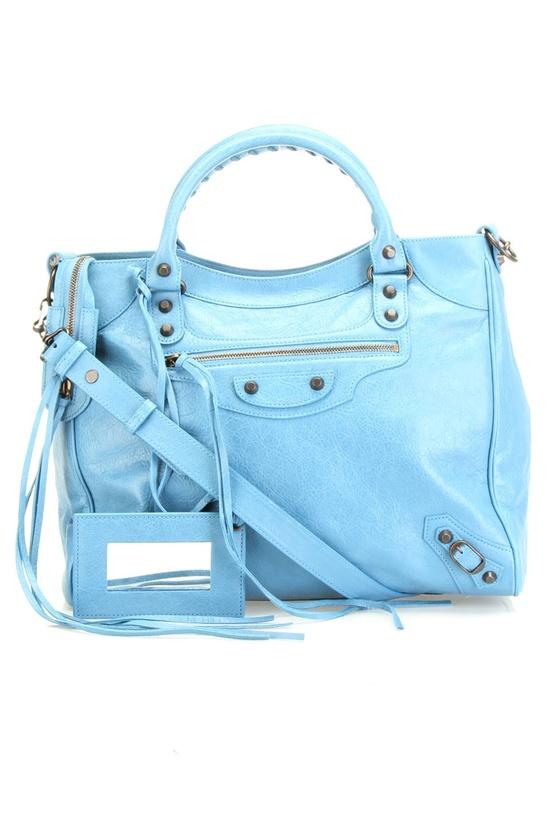 Balenciaga Classic Velo Handbag In Blue Indigo.