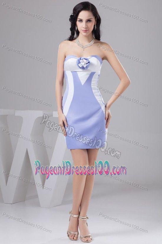 Lilac Natural Beauty Pageants Dress with Handmade Flower
