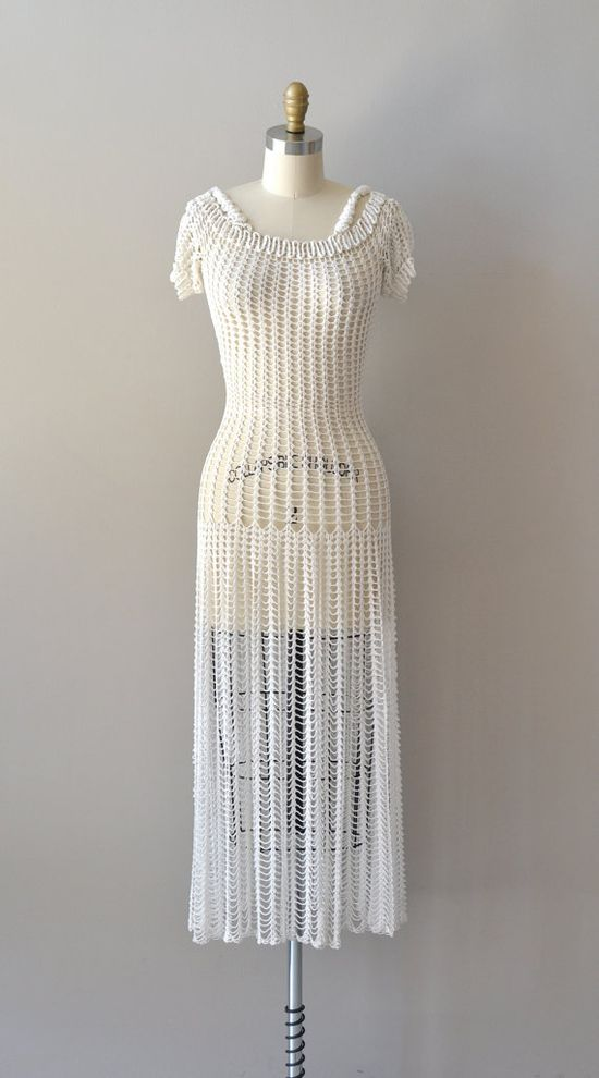 1930s crochet dress