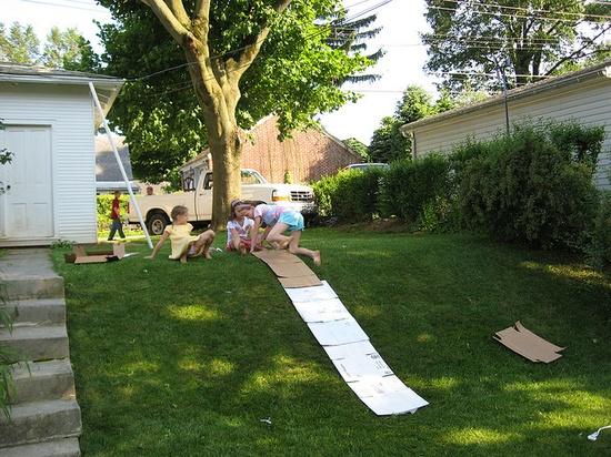 Cardboard Slide by Lovinclaydolls #DIY #Slide #Cardboard
