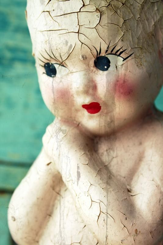 old doll with lashes #retro #toys #kids #vintage