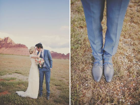 Red Rock Wedding Portrait Session. Grooms shoes. www.gideonphoto.com