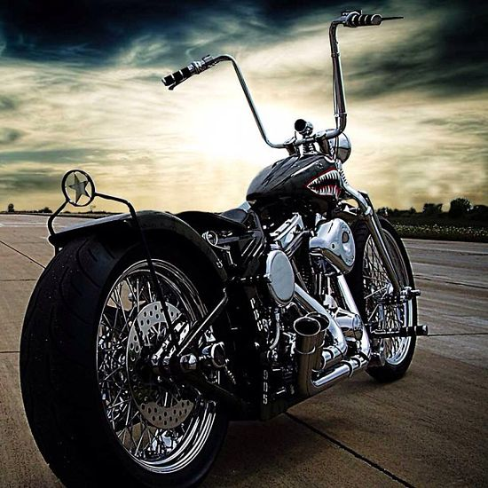 Old School Chopper #motorcycle #motorbike