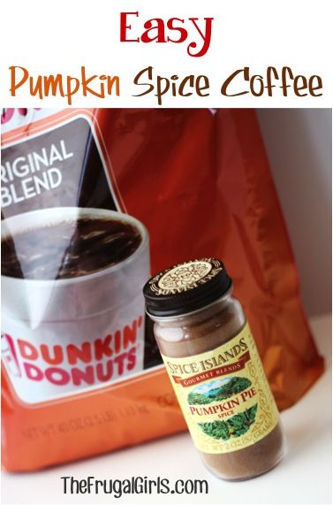 Easy Pumpkin Spice Coffee! ~ from TheFrugalGirls.com ~ this simple little trick makes delicious Homemade Pumpkin Spice Coffee! Yum!