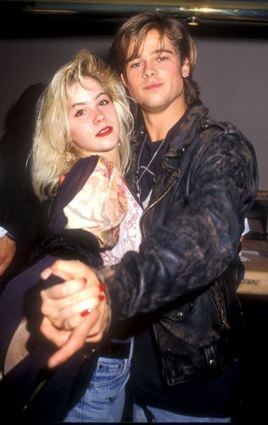 Christina Applegate and Brad Pitt in the 90's