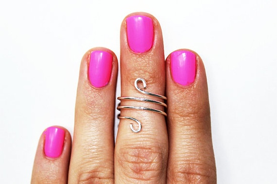 Wire Above the Knuckle Ring Dainty Wire Jewelry by theredparachute, $5.00