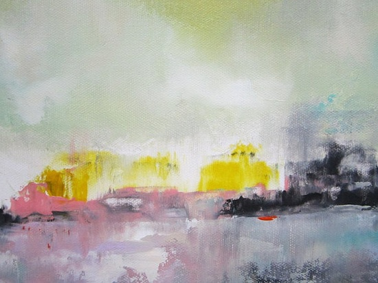 Colorful Cityscape Abstract Painting City Glow 20 by lindadonohue, $195.00