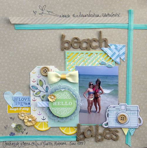 Beach Babes *American Crafts* - Scrapbook.com