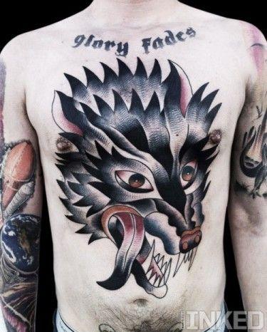 #Wold #chestpiece #tattoo #InkedMagazine