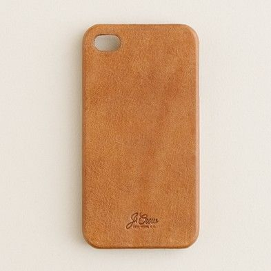 J. Crew Leather iPhone 4 case.