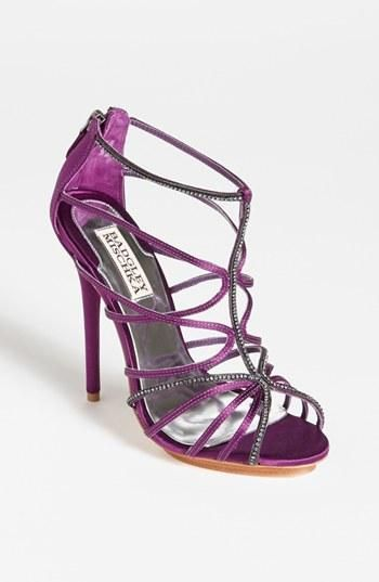 Go for a pop of purple under a white wedding dress