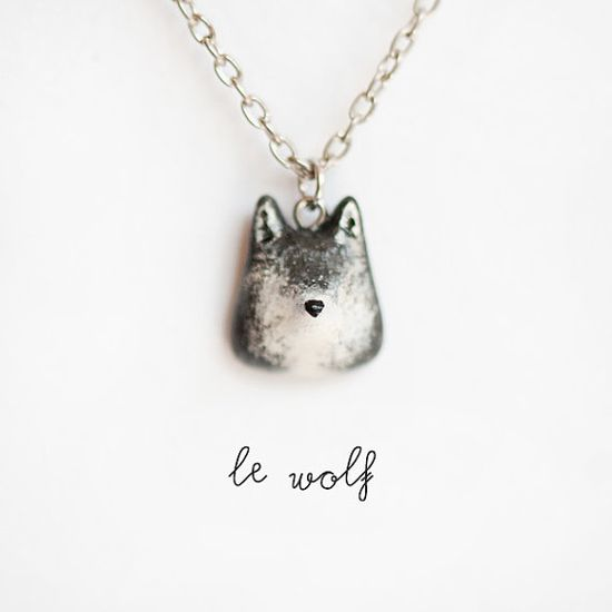 wolf necklace from etsy