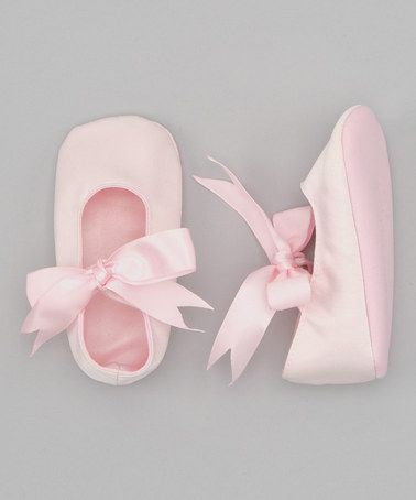 Take a look at this Pink Satin Bow Flat by Truffles Ruffles on #zulily