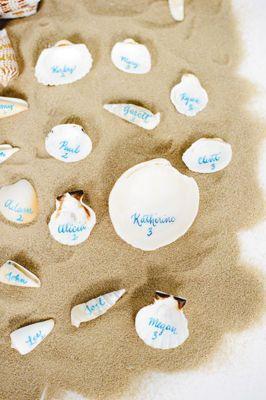 Seaside Wedding Shell Table Numbers wedding