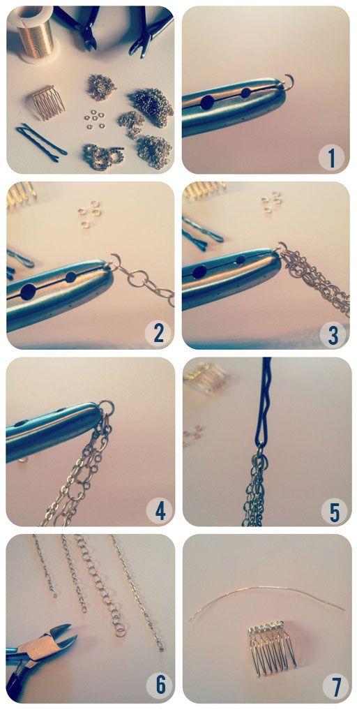 Hair chain accessory diy