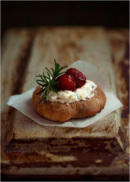 Rosemary cherry focaccia. #recipe, #food, #photography