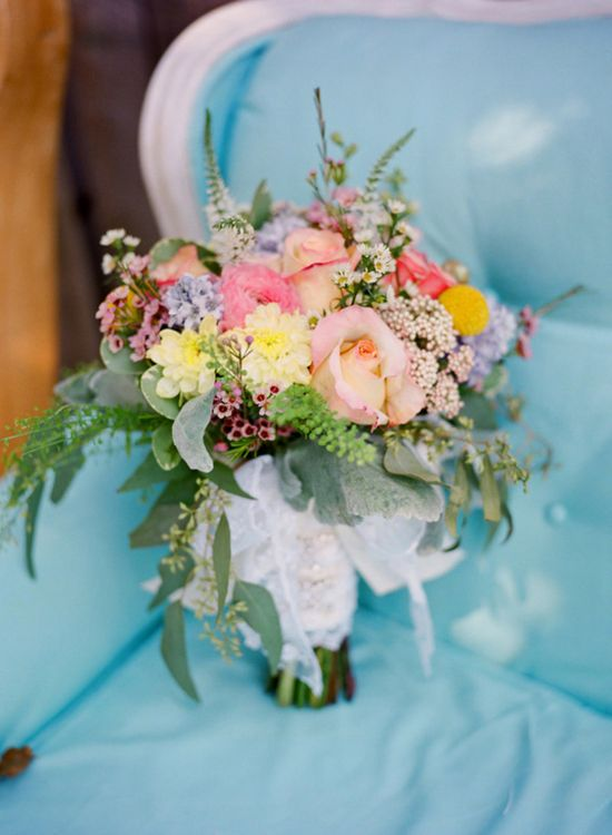brightly colored bouquet // photo by KrystleAkin.com