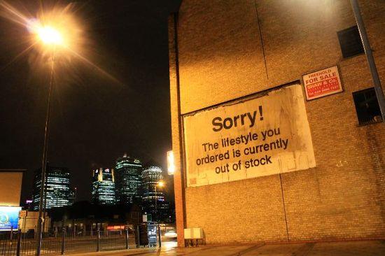 Sorry by street artist Banksy #graffiti #street #art