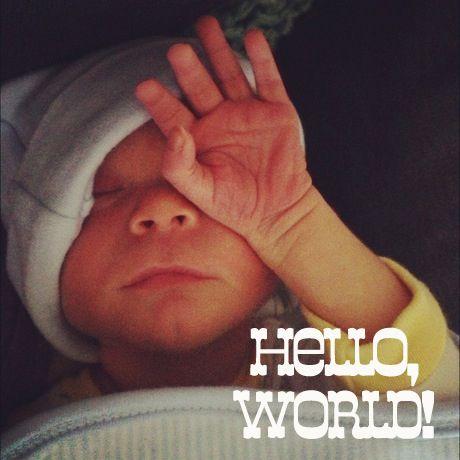 Hello, World! Love, Baby Judah